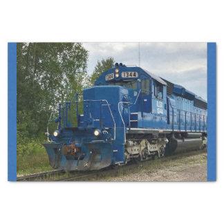 Papel seda azul del tren