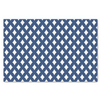 Papel seda azul y blanco moderno del diamante