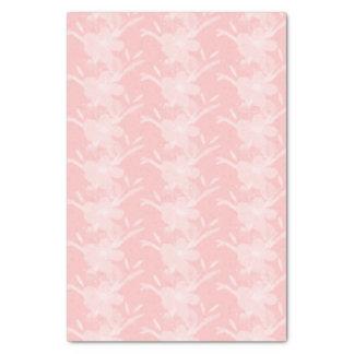 Papel seda blanco de la impresión floral de los