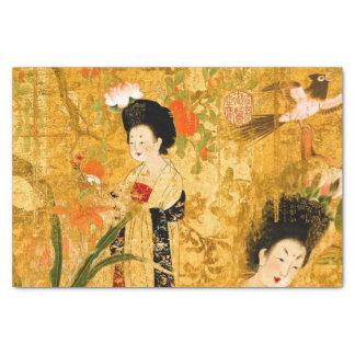 Papel seda chino de las princesas 10lb, blanco