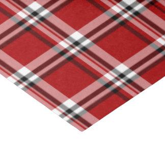 Papel seda clásico rojo de la tela escocesa
