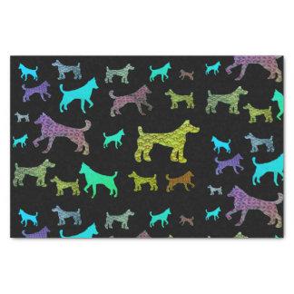 Papel seda colorido de los perros