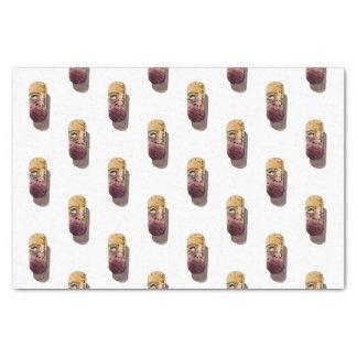 Papel seda con acuarela de corcho de vino