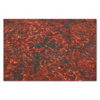 Papel seda con el modelo del agua roja