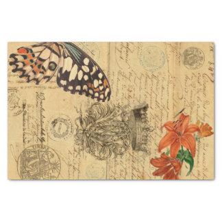 Papel seda de Decoupage de la mariposa de Bono