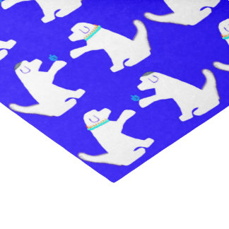 Papel seda de Jánuca con los perros lindos