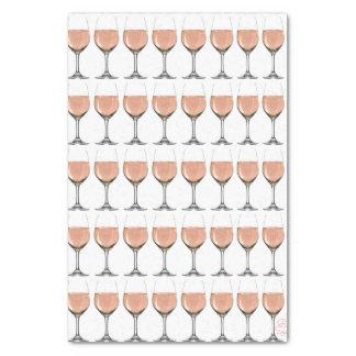 Papel seda de la copa de vino de Rosé