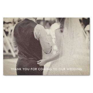 Papel seda de la foto del boda