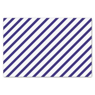 Papel seda de la raya de azules marinos
