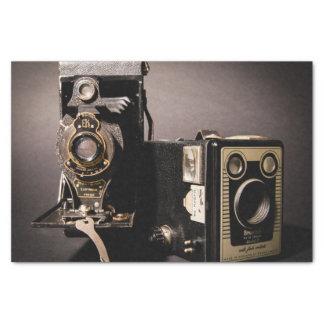 papel seda de las cámaras del vintage
