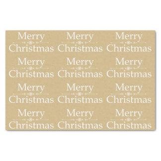 Papel seda de las Felices Navidad en de oro y