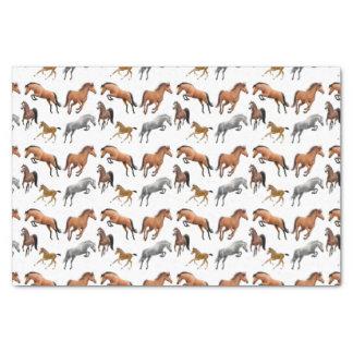Papel seda de los caballos del puente del cazador