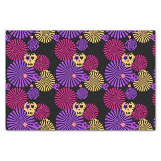 Papel seda de los cráneos del fiesta