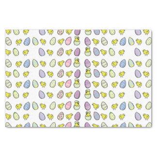 Papel seda de los huevos y de los polluelos de