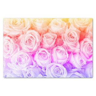 Papel seda de los rosas del arco iris