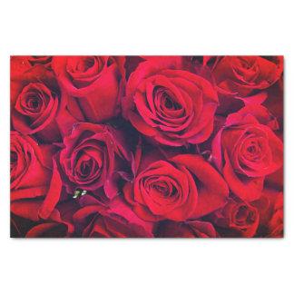 Papel seda de los rosas rojos de Srta. América