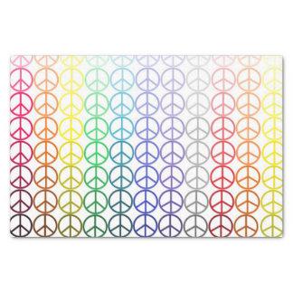 Papel seda de los signos de la paz del arco iris