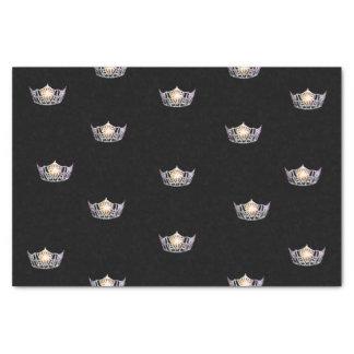 Papel seda de plata de la corona de Srta. América