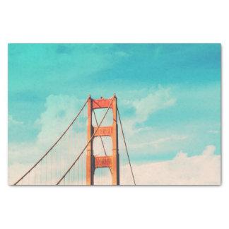 Papel seda de puente Golden Gate de San Francisco