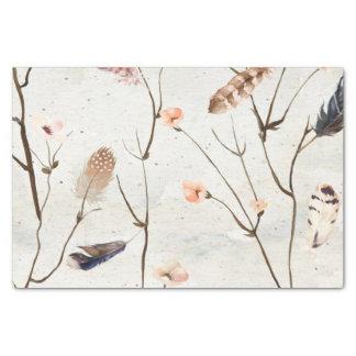 Papel seda del árbol de la pluma