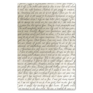 Papel seda del arte del texto de la escritura del