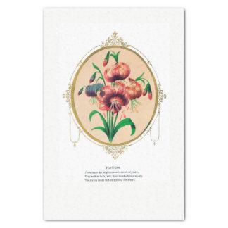 Papel seda del emblema de la flor del Victorian