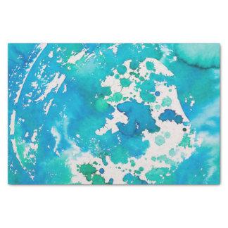 papel seda del extracto del verde azul