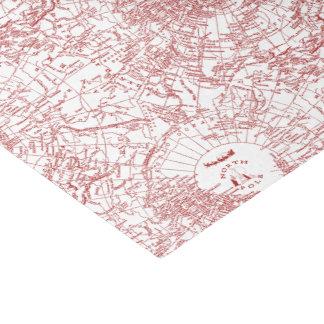 Papel seda del mapa de Polo Norte Santa