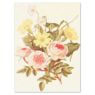 Papel seda del ramo del jardín del vintage