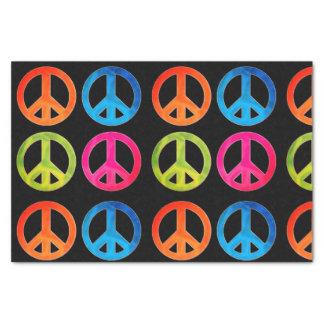 Papel seda del regalo con los signos de la paz