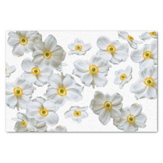 Papel seda del regalo de las flores blancas