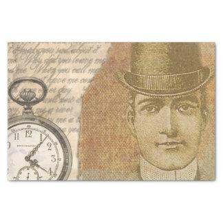 Papel seda del reloj de bolsillo del caballero de