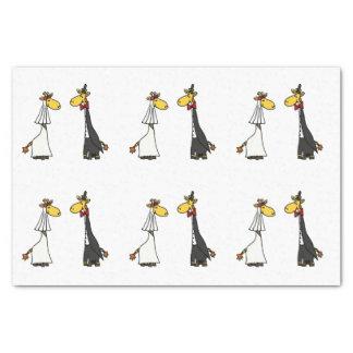 Papel seda divertido del boda de la jirafa