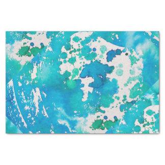 Papel seda en azul de océano