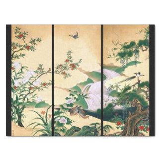 Papel seda floral de la cascada de las palomas de