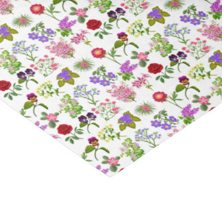 Papel seda floral del jardín francés del país