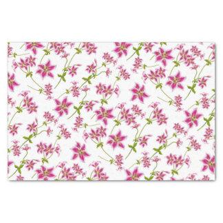 Papel seda floral del lirio rosado del Stargazer