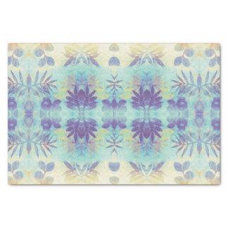 Papel seda floral monoprinted azul