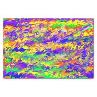 Papel seda fresco de los colores