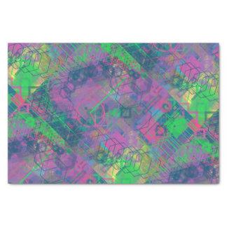 Papel seda geométrico colorido del fiesta