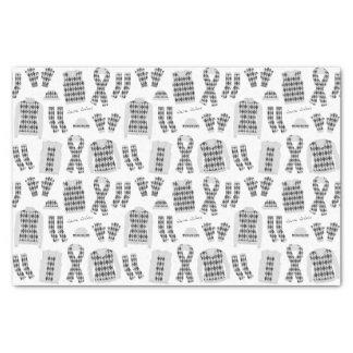 Papel seda gris de los artículos del modelo de