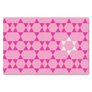 Papel seda judío rosado de la estrella