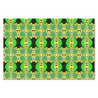 Papel seda negro amarillo verde el | del remolino
