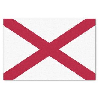 Papel seda patriótico con la bandera de Alabama,