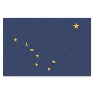 Papel seda patriótico con la bandera de Alaska,