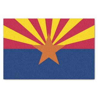 Papel seda patriótico con la bandera de Arizona,
