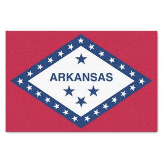 Papel seda patriótico con la bandera de Arkansas