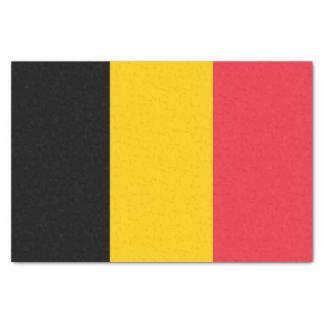Papel seda patriótico con la bandera de Bélgica