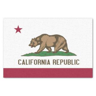 Papel seda patriótico con la bandera de California