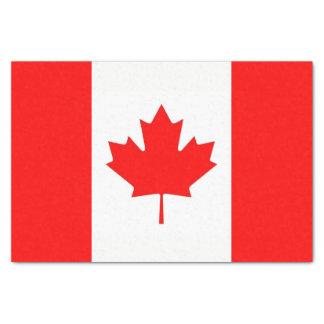 Papel seda patriótico con la bandera de Canadá